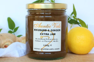Auntie Vals Rhubarb and ginger extra jam
