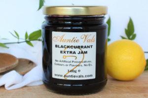 Auntie Vals blackcurrant extra Jam