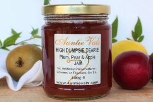 Auntie Vals high dumpsie dearie plum pear and apple jam