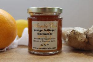 Auntie Vals orange and ginger marmalade