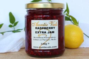 Auntie Vals raspberry extra jam