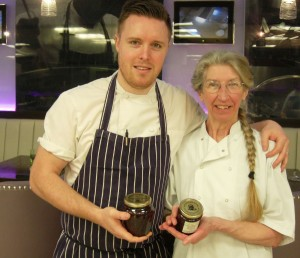 Auntie val with master chef professional champion steven edwards our preserves